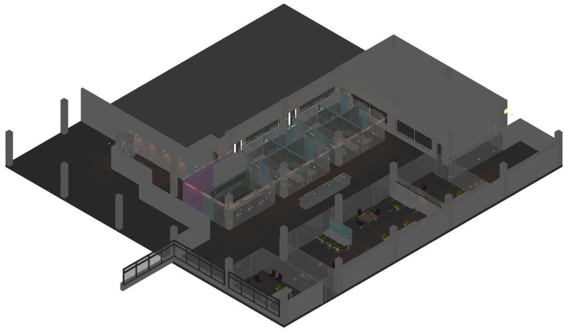 3d interieurontwerp Media Park HIlversum